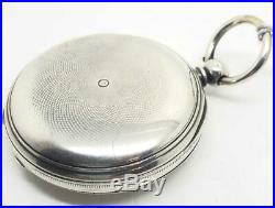 A Nice English Silver Cased Fusee Full Hunter 1871 Pocket Watch