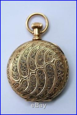 ANTIQUE 14 Kt. Karat Gold Hunter's Case Pocket Watch American Waltham Watch Co