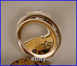 ANTIQUE ELGIN H. H. TAYLOR COIN SILVER BOX HINGE HUNTER CASE 18s POCKET WATCH