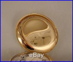 ANTIQUE HAMILTON 925 17j 14kGOLD FILLED BOX HINGE HUNTER CASE 18sPOCKET WATCH
