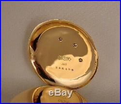 ANTIQUE WALTHAM 14kMULTICOLOR SOLID GOLD WITH DIAMONDS HUNTER CASE POCKET WATCH