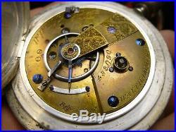 American Watch Co. P. S. Bartlett Mod. 1857 Sz 18 Pocket Watch in Coin Silver Case
