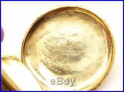 Antique 14K Gold Waltham Pocket Watch 17 Jewel Wind Hunter Case Rose Yellow Runs