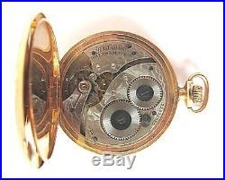 Antique 14K Solid Gold Waltham Pocket Watch, Hunter Case, S12,65.7 Grams, RUN