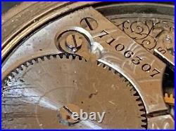 Antique 14k Yellow Gold 1903 American Waltham Hunter Case Pocket Watch Look Read