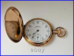 Antique 1888 ELGIN Hunting Case Size 6s Pocket Watch- Excellent Condition