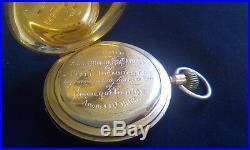 Antique 18ct Gold English Gentleman's Hunter Case Pocket Watch Rotherhams London