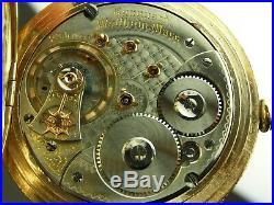 Antique 18s Waltham Vanguard 23 jewels Hunter case pocket watch. Serviced. 1902
