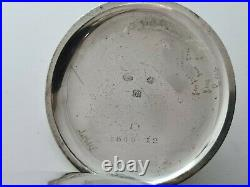 Antique 1905 Swiss Made Solid Silver Pocket Watch+ Oryginal Case Working Rare