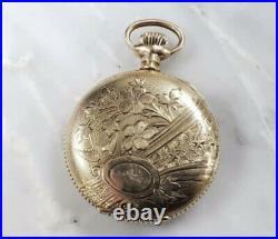 Antique 1906 Elgin Gold Filled Hunter Case Pocket Watch 0s 15J 10-H1458