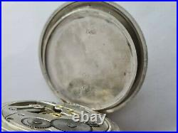 Antique 1907 Cyma 15J Solid Silver Cased Pocket Watch Working Rare