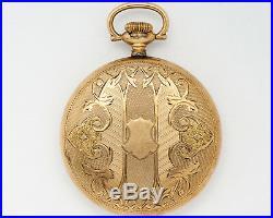 Antique 1919 Hamilton 16s 23j Adj. 950 Pocket Watch with NICE Case for Restoration