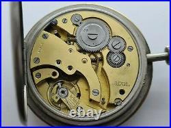 Antique 1920 Bulla Swiss Made 8 Day Travel Watch In Original Case Vgc Rare