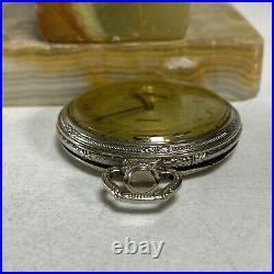 Antique 1925 Elgin Pocket Watch 14k GF Case Grade 315 12s Openface Original Box