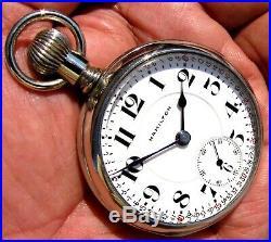 Antique 21 Jewel 18 Size Salesman Display Case Pocket Watch Hamilton 940