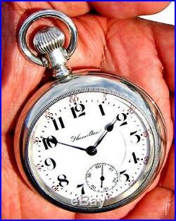 Antique 21 Jewel 18 Size Salesman Display Case Pocket Watch Hamilton 940 Working