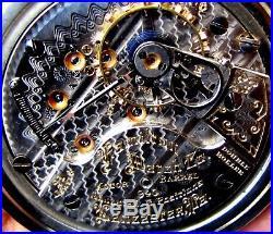 Antique 21 Jewels 18 Size Salesman Display Case Pocket Watch Hamilton 940