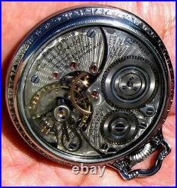 Antique 21 Jewels Display Case Pocket Watch 60 Hour ILLINOIS BUNN SPECIAL