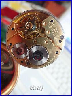 Antique 9ct gold Hallmarked 1915 Dennison case co Pocket Watch American Waltham