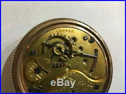 Antique Columbus North Star 18 size open face pocket watch in a gold filled case