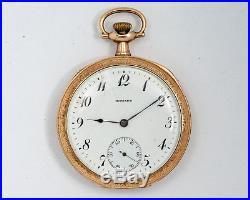 Antique E. Howard 12s 17j Adj Series 7 Pocket Watch in Double Backed Case! Runs