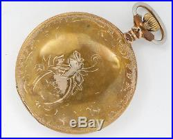 Antique EARLY Seth Thomas 18s 7j Pocket Watch with Hunter Case out of Estate