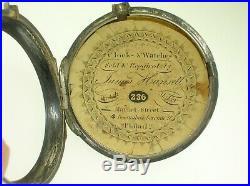 Antique English Verge Fuse Silver Pair Cased Pocket Watch John Walton London