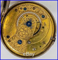 Antique Georgian C1792 Sterling Silver Pair Cased R Tompion Fusee Pocket Watch
