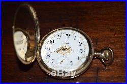 Antique Hunter Waltham Pocket Watch Keystone 20 Year Gold Case 16s Works 15j
