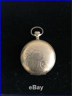 Antique Hunters Case Pocket Watch Waltham Pocket Watch Runs Well Gold Filled