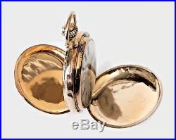 Antique Lady's 14K Hunter Solid Gold Case Pocket Watch Circa 19 Century