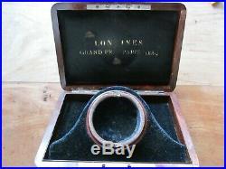 Antique Longines Grand Prix Paris 1889 Display Wood Pocket Watch Box Case
