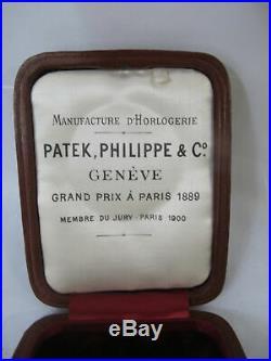 Antique PATEK PHILIPPE Grand Prix Paris 1889 Original POCKET WATCH Box Case
