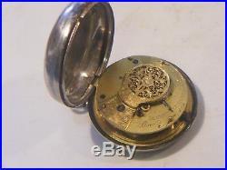 Antique Pair Cased Verge Pocket Watch Silver Georgian
