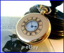 Antique Pocket Watch 1904 Waltham 7 Jewel Half Hunter 9ct Rose Gold Filled Case