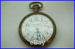 Antique Pocket Watch Hampden 21 Jewels 18s Open Illinois Case 2980170 Sn Rr