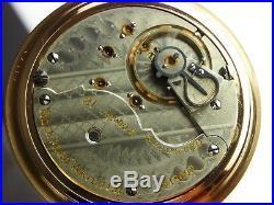 Antique Rockford 910 18s 21 j. Pocket watch made 1898. Beautiful Keystone case