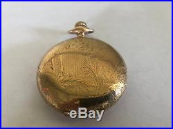Antique Rockford Pocket Watch Wadsworth Case Fancy Dial 17 Jewels 18s WORKING