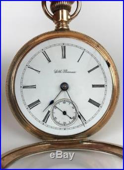 Antique Seth Thomas Model 5 15-Jewels Sz. 18s Railroad Pocket Watch GF Gilt Case