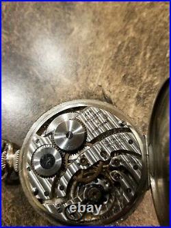 Antique South Bend Pocket Watch Grade 429, Size 12, 19j, White Gold Fill Case