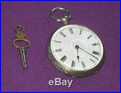 Antique Victorian High Grade Fine Sterling Silver Pocket Watch J W Benson Case