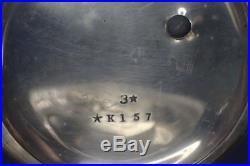 Antique Waltham 18s 11j Wm Ellery Key Wind Pocket Watch In Sterling Silver Case
