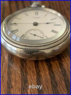 Antique Waltham Pocket Watch, 18S, 15 J, Silveroid Case, Nice Dial & Running