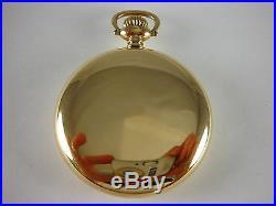 Antique original 16s E. Howard Series 11 Rail Road chronometer 1915. Great case