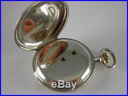 Antique rare Swiss 19j keywind pocket chronometer 1800s. Serviced. Nice case