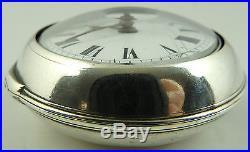 Antique silver pair cased verge pocket watch Richardson London HM1780 WORKING