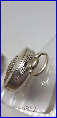 Antique silver verge fusee pair cased Birmingham pocket watch 1812 case ref221