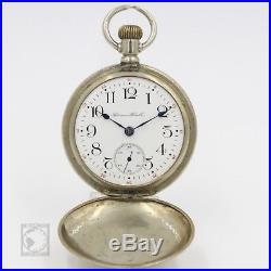 750e675b0 BIG 1908 Hampden Dueber Grand RAILROAD Grade Pocket Watch Hunter Case 18s