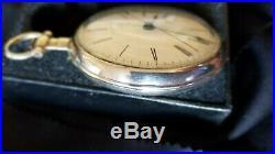 BOVET FLEURIER Chinese Duplex Pocket Watch. Silver Case OF KW KS 56 mm Ca 1830's