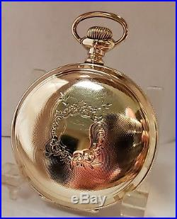 Beautiful 18s Gold Filled Hunter Pocket Watch Case